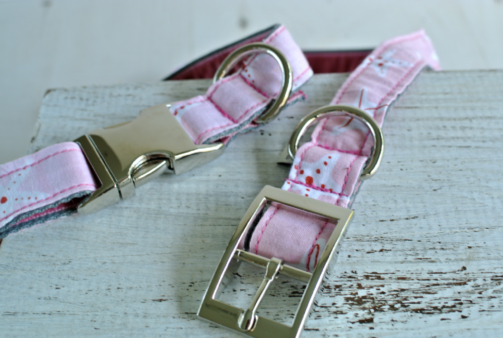 Pink Cotton Starfish Collars